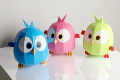 PDF Template of Baby Bird On Moon / Hatchling / Papercraft Product Image 4