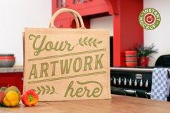 Instant mockup Burlap shopping bag, tote bag, jute bag Product Image 4
