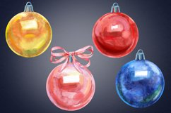 Watercolor Christmas ball clipart Product Image 2
