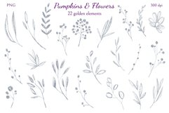 Pumpkins and Flowers Product Image 2