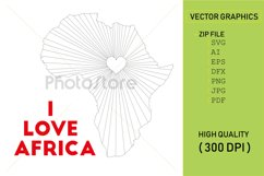 I love Africa country map silhouette Product Image 1