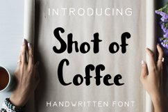 Shot of Coffee Bold and Thick Handwritten Font Product Image 1