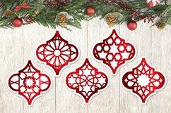 Arabesque Christmas Ornament SVG Bundle, Lantern cut files Product Image 2