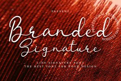 Branded Signature - Signature Font Product Image 1