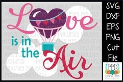 Love is in the Hot Air Balloon SVG 11262 Product Image 1
