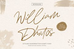 Signature Font - William Dhatos Product Image 1