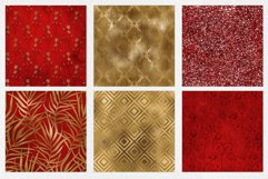 Red & Gold Digital Paper Pack Product Image 5