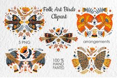 Folk Art Birds Compositions. Product Image 1