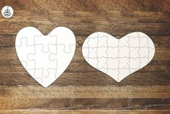 Puzzle Jigsaw SVG Templates Bundle - Classic, Heart, Unusual Product Image 5