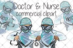 Medical clipart - Nurse clipart - Doctor clipart - Hospital Product Image 1