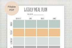 Weekly Meal Planner, Editable Meal Planner Product Image 4