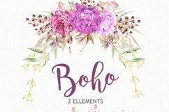 Boho Watercolor Clipart Set Product Image 2