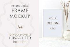 Frame mockup A4 vertical, Poster mockup, Signs Mockup Product Image 1