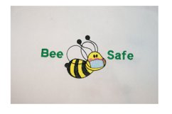 Bee Safe Embroidery Design Product Image 1