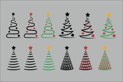 Christmas Trees SVG Clipart Product Image 5