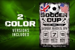 Chalk Soccer Sports Flyer Product Image 2