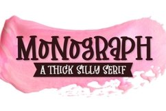 Monograph - A Thick Silly Serif Product Image 1