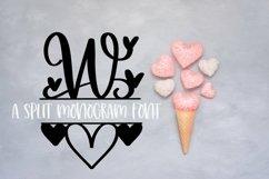 Web Font A Heart Split Monogram Font Product Image 3