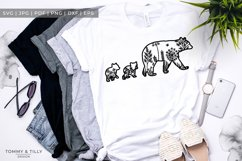 Mama Bear Meadow Animal - Papercut Template SVG EPS DXF P Product Image 2