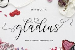 Web Font Gladius Script Product Image 1