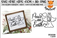 Peace On Earth Angel Christmas Winter SVG Product Image 1