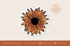Printable Sticker | Sunflower Sticker for Cricut Product Image 2