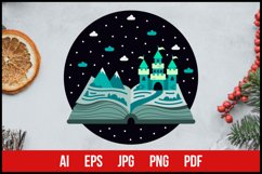 Fairy Tale Winter Castle - Sublimation Printing Product Image 1