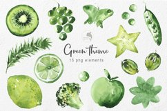 Green theme watercolor Product Image 2