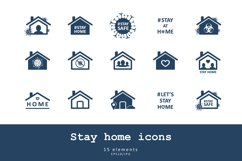 Stay home icons Product Image 1