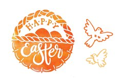 Happy Easter. Vector elements and watercolor textures. Product Image 4