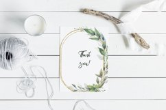 Watercolor Greenery Wreath Clipart. Product Image 7