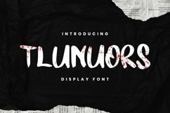 TLUNUORS Font Product Image 1