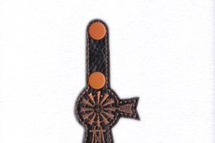 African Farmhouse Windmill Key Fob Embroidery Design Product Image 2