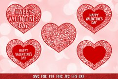 Heart SVG,Happy Valentines Day,Floral Heart,Heart Papercut Product Image 5