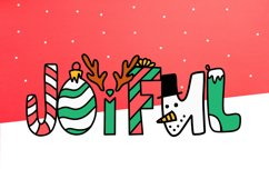 Sleigh Bells - A Christmas Font Product Image 2