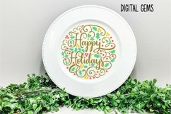 Happy Holidays, Christmas SVG / PNG / EPS / DXF files Product Image 4