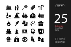 Christmas Icon Solid SVG, EPS, PNG Product Image 1