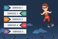 Male Superhero Cartoon PowerPoint Template Product Image 6
