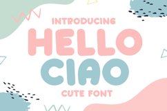 Hello Ciao - Cute Display Font Product Image 1