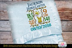 3 sizes Baby Born Announcement Embroidery Template Product Image 1