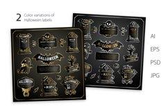Halloween Design Golden Labels Set Product Image 2