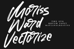 Moriss Ward SVG Brush Font Product Image 3