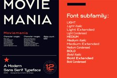 Moviemania - Sans Serif font Family Product Image 5