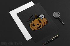 Halloween Pumpkin, Skull Bone and Bat SVG cut files Product Image 2