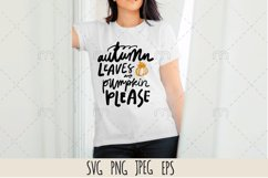 Fall SVG. Autumn leaves and pumpkin please Product Image 1