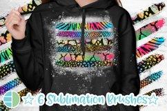 Rainbow Glitter Brush Strokes Animal Print PNG Bundle Product Image 2