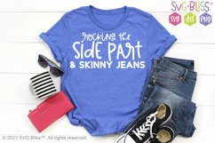 Rocking the Side Part & Skinny Jeans SVG Cut File Product Image 1