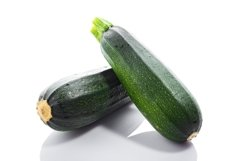 Zucchini or green marrow squash isolated on white background Product Image 1