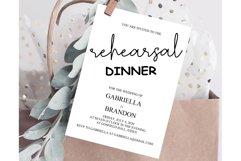 Rustic Rehearsal Dinner Invitation, Invitation Template Product Image 1