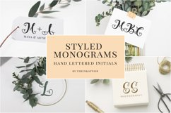Styled Monograms - Hand lettered Initials Product Image 1